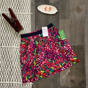 Lilly Pulitzer Floral Clover Skirt with Pockets